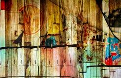 Abstract chaotisch patroon met gebogen lijnen royalty-vrije illustratie