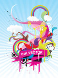Abstract character illustration Stock Image