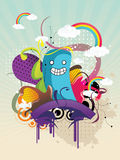 Abstract character illustration Royalty Free Stock Image
