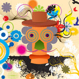Abstract Character. Person, floral, colorful poster design Stock Image