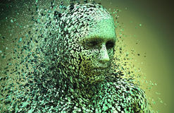 Abstract character shattered Royalty Free Stock Photo
