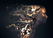 Abstract character shattered Royalty Free Stock Images