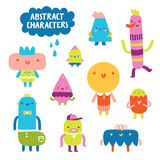 Abstract characters collection Royalty Free Stock Images