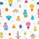 Abstract characters vector seamless pattern Stock Photos