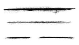 Abstract Charcoal Line Markings. A various set of charcoal lines over a white background Royalty Free Stock Photo