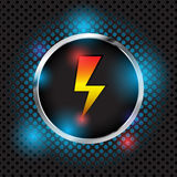 Abstract charge vector icon and symbol. Rgb mode royalty free illustration