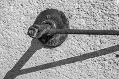 The abstract charred carving fixture Royalty Free Stock Photography