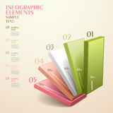 Abstract chart infographics Royalty Free Stock Photos