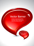 Abstract chat banner. Vector illustration Stock Photography