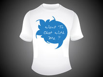 Abstract chat tshirt template Stock Image