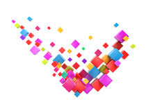 Abstract check mark colorful boxes Stock Image