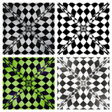 Abstract checkered background set. Royalty Free Stock Image