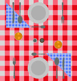 Abstract checkered dinner setting Royalty Free Stock Image