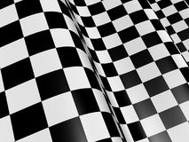 Abstract checkered flag. Sports background - abstract checkered flag. 3d render Stock Photos