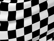 Abstract checkered flag. Sports background - abstract checkered flag. 3d render Royalty Free Stock Photo