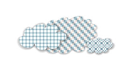 Abstract checkered pastel isolated clouds Royalty Free Stock Image