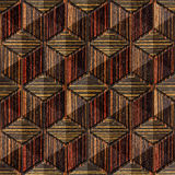 Abstract checkered pattern - seamless background - Ebony wood Stock Photos