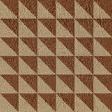 Abstract checkered pattern - seamless background - leather texture Stock Images