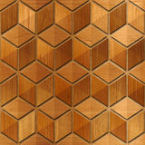 Abstract checkered pattern - seamless background - wood paneling Stock Photography