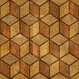 Abstract checkered pattern - seamless background - wood paneling Royalty Free Stock Photo