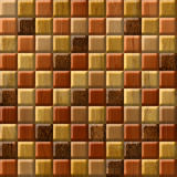 Abstract checkered pattern - seamless background - wood paneling Royalty Free Stock Photos