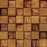 Abstract checkered pattern - seamless background - wood surface Stock Photography