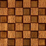 Abstract checkered pattern - seamless background - wood texture Stock Images