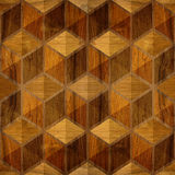 Abstract checkered pattern - seamless background - wood texture Royalty Free Stock Photo