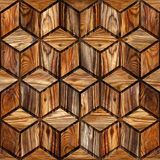 Abstract checkered pattern - seamless background - wood texture Royalty Free Stock Photos