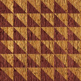Abstract checkered pattern - seamless background - wooden texture Stock Photos