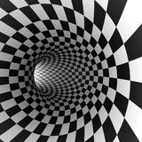 Abstract checkered round tunnel Stock Photos