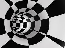 Abstract Checkered Speed Tunnel stock image