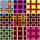 Abstract checkered vibrant colors pattern Royalty Free Stock Photos