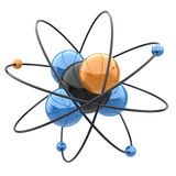 Abstract chemical concept. Atom or molecule sign. 3d Stock Images