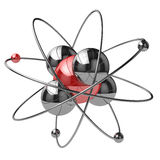 Abstract chemical concept. Atom or molecule sign. 3d Stock Photo