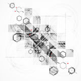 Abstract chemical formula technology business background Stock Image
