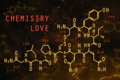 Chemical formula texture Royalty Free Stock Images