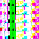 Abstract chemical glitching effect. Random digital signal error. Abstract contemporary texture background colorful pixel mosaic. Stock Images