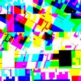Abstract chemisch glitching effect Willekeurige digitaal signaalfout Abstract eigentijds textuur achtergrond kleurrijk pixelmozaï Royalty-vrije Stock Afbeelding