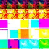 Abstract chemisch glitching effect Willekeurige digitaal signaalfout Abstract eigentijds textuur achtergrond kleurrijk pixelmozaï Stock Foto