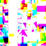 Abstract chemisch glitching effect Willekeurige digitaal signaalfout Abstract eigentijds textuur achtergrond kleurrijk pixelmozaï Stock Afbeelding