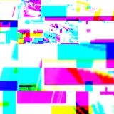 Abstract chemisch glitching effect Willekeurige digitaal signaalfout Abstract eigentijds textuur achtergrond kleurrijk pixelmozaï Royalty-vrije Stock Afbeeldingen