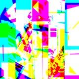 Abstract chemisch glitching effect Willekeurige digitaal signaalfout Abstract eigentijds textuur achtergrond kleurrijk pixelmozaï Royalty-vrije Stock Foto's