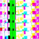 Abstract chemisch glitching effect Willekeurige digitaal signaalfout Abstract eigentijds textuur achtergrond kleurrijk pixelmozaï stock illustratie