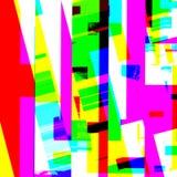 Abstract chemisch glitching effect Willekeurige digitaal signaalfout Abstract eigentijds textuur achtergrond kleurrijk pixelmozaï Stock Afbeeldingen