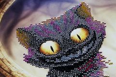 Abstract Cheshire cat. A cheshire cat abstract background stock images