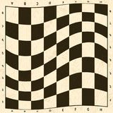 Abstract chess board. Empty checkered background illustration stock illustration