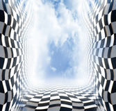 Abstract chess space Royalty Free Stock Images