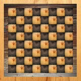 Abstract chess table Stock Image