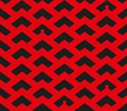Abstract chevron red and black pattern with little people silhouettes in some places vector illustration